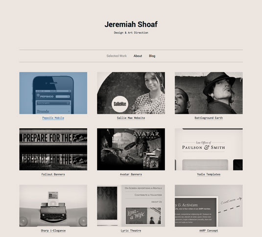 Website templates - Type & Grids