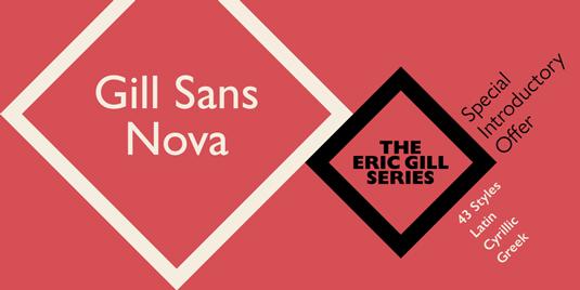Gill Sans Nova typeface