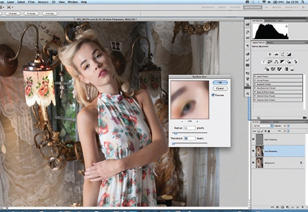 Retouch images with frequency separation: step 3