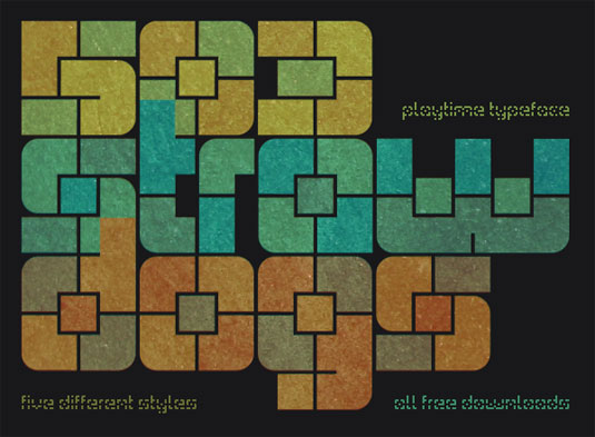 free stencil fonts: Playtime