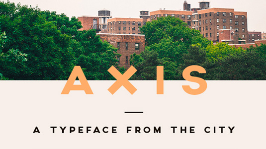 Free font: Axis