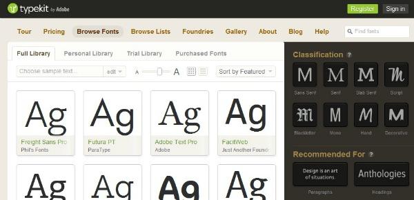 Adobe Creative Cloud and Typekit