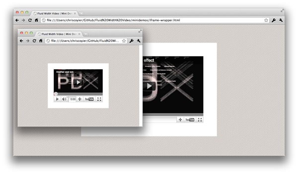 Whatever YouTube iframe embed code you paste within the .videoWrapper, you'll see it presented in a fluid 16:9 box
