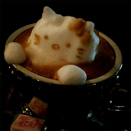 3d coffee art