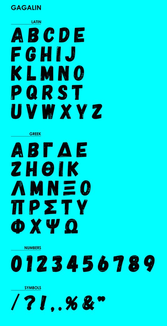 Free font: Gagalin