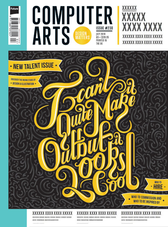 Cover design for CA's New Talent issue by Lewis Bartlett