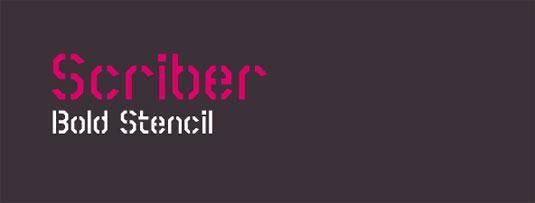 free stencil fonts: Scriber