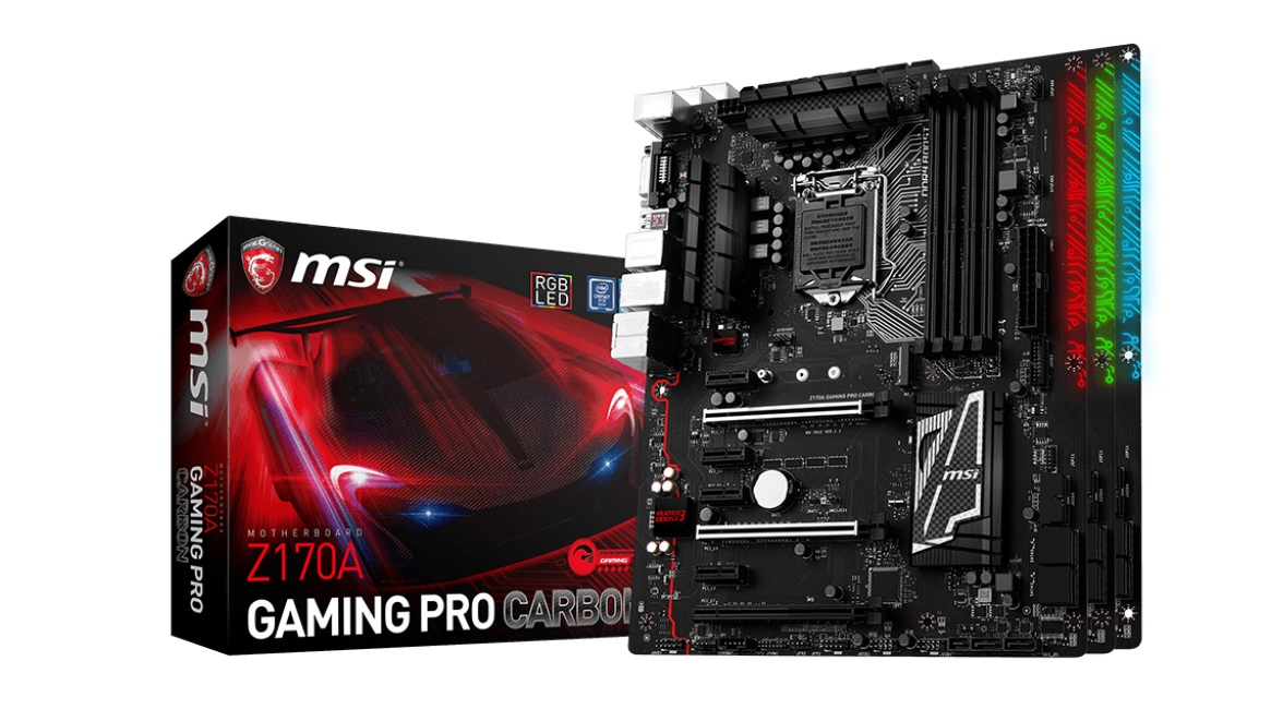 best mining motherboards: MSI Z170A Gaming Pro Carbon