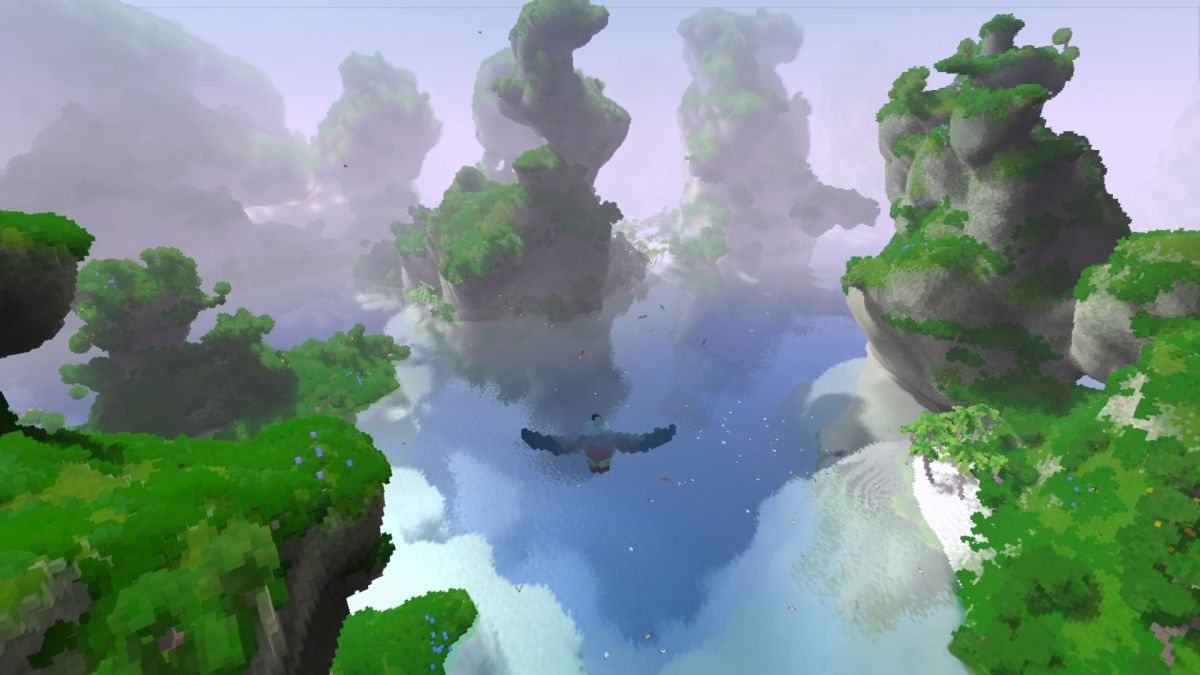You're a bird in this Early Access voxel sandbox, but sometimes you're a flying monkey