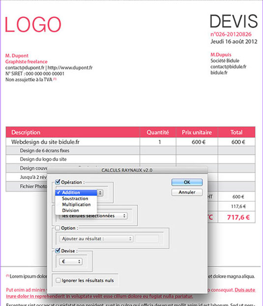 Indesign Invoice Template Free – operlying.info