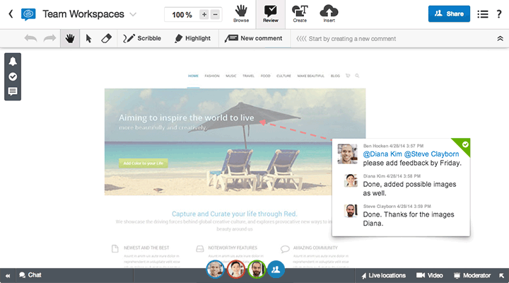 Online collaboration tools: ConceptBoard