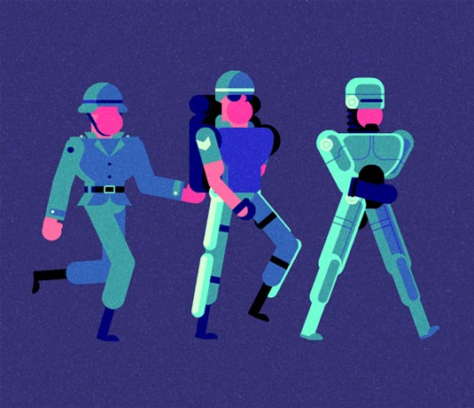 Robin Davey Exosuit illustration