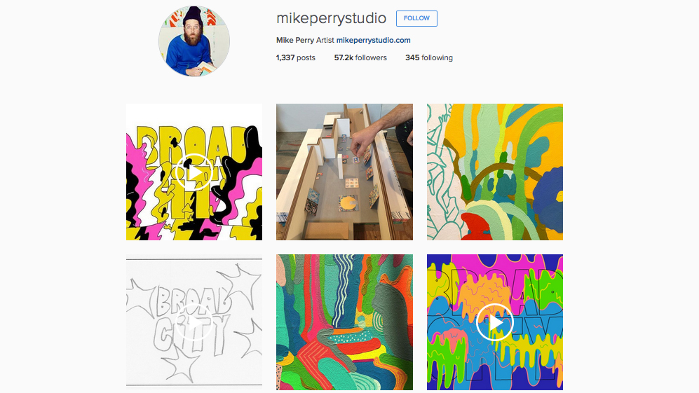 Graphic designers to follow on Instagram: Mike Perry