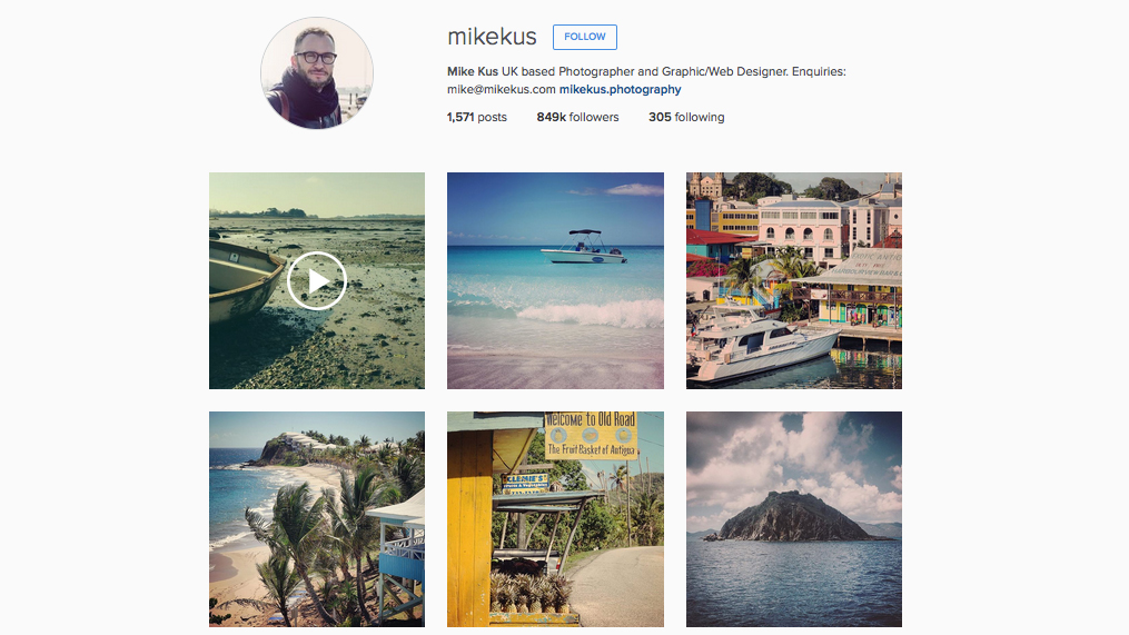 graphic designers to follow on Instagram: Mike Kus