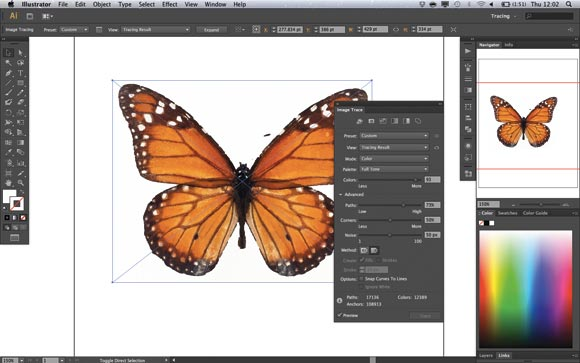 Adobe Illustrator CS6 introduces a new tracing engine and panel