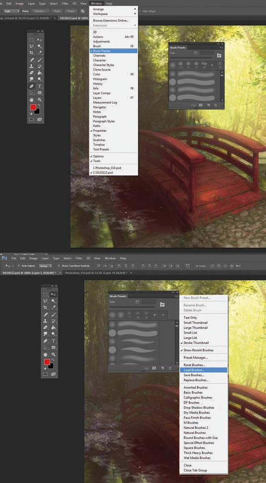 Photoshop Brushes: Loading custom brushes