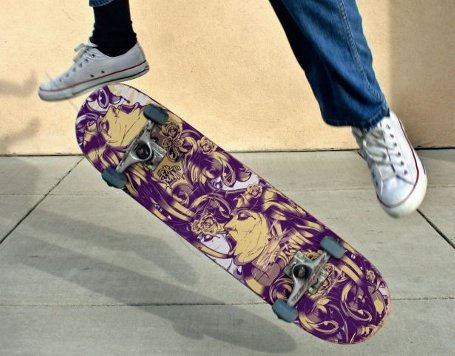Create cool skateboard graphics