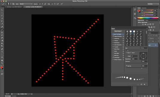 Photoshop secrets: Draw dotted lines with the brush