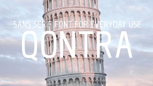 Free font: Qontra