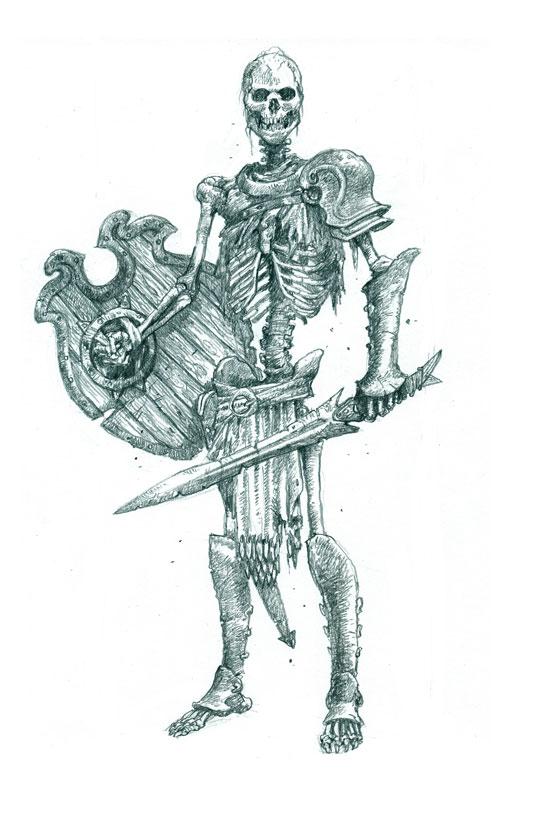 fearsome warrior skeleton