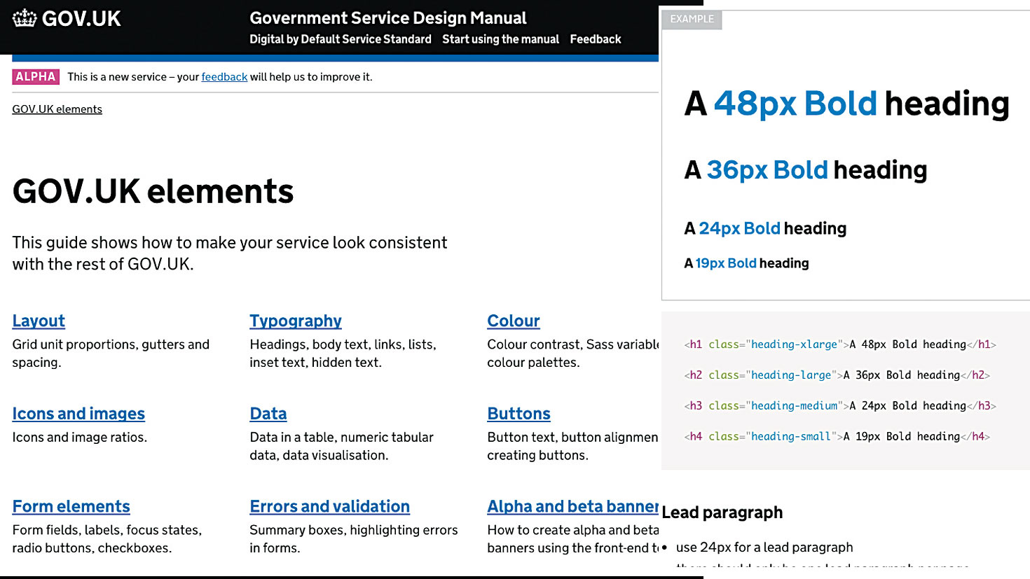 Speed up your web workflow with style guides - GOV.UK