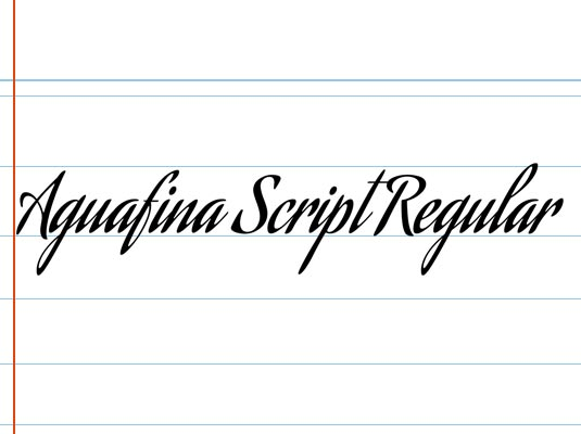 Free cursive fonts: Aguafina Script Regular