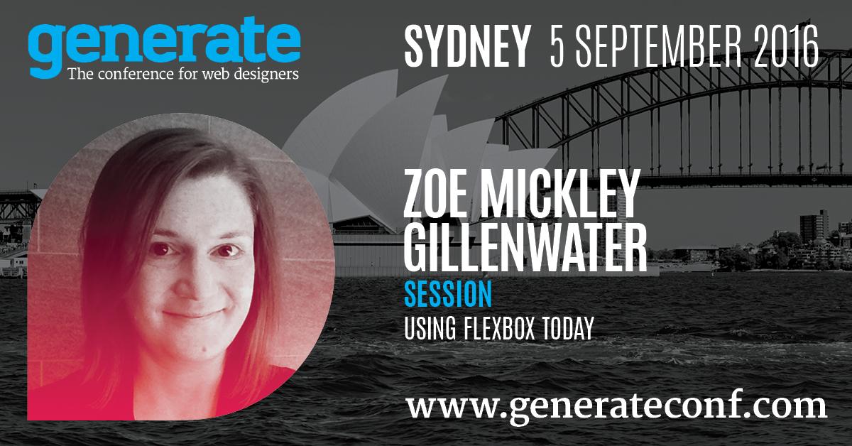 Generate Sydney - Using Flexbox Today
