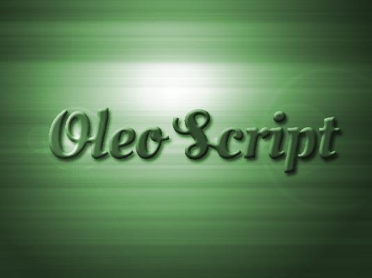 Free cursive fonts: Oleo Script