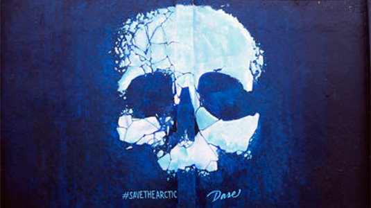 Save the Arctic street art