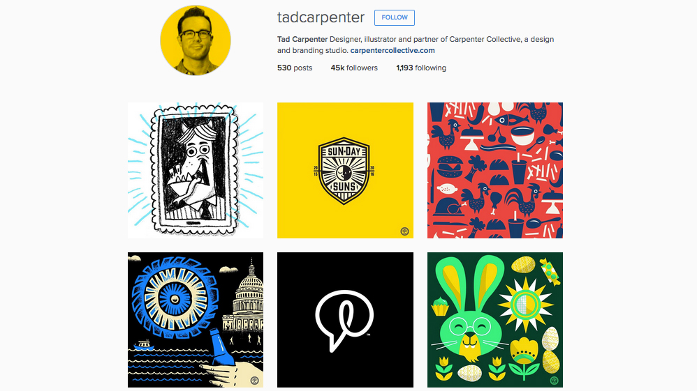 Graphic designers to follow on Instagram: Tad Carpenter