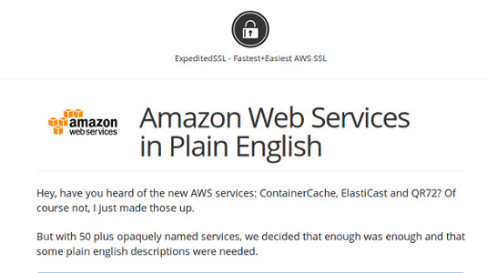 A great guide to the jargon of AWS