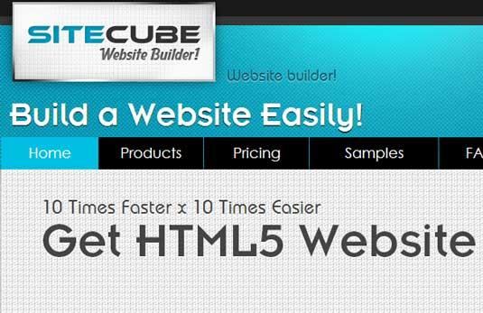 Website builder: Sitecube