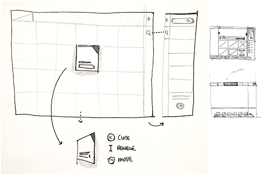 Website layouts: UX sketch