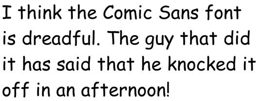 Dave Gibbons Comic Sans