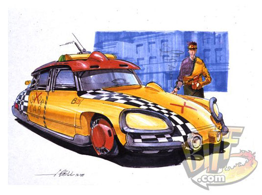 Back to the Future taxi sketch
