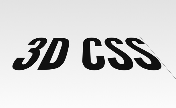 CSS 3D transforms: BigText