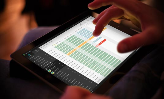 Planning app on tablet