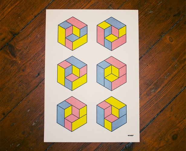 Years - Cubes Poster