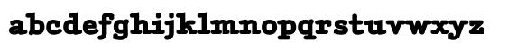 typewriter typefaces: Aminta Black