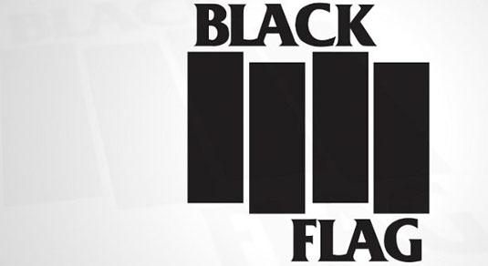 35 beautiful band logo designs - Black Flag