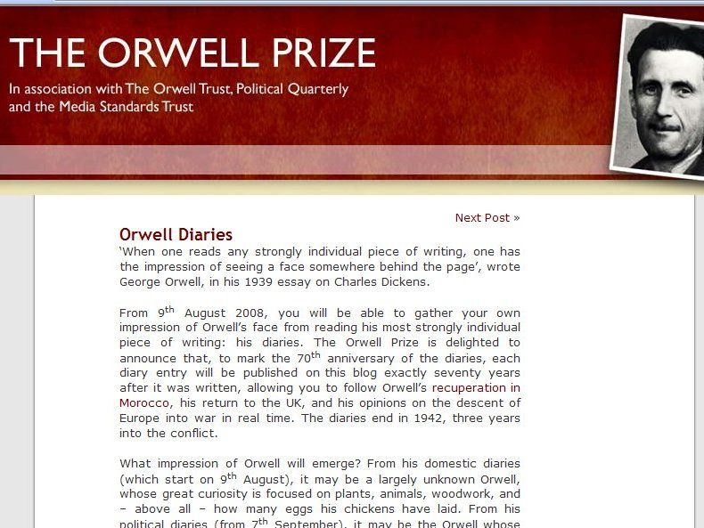 biography george orwell essay