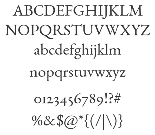 Free web fonts EB Garamond