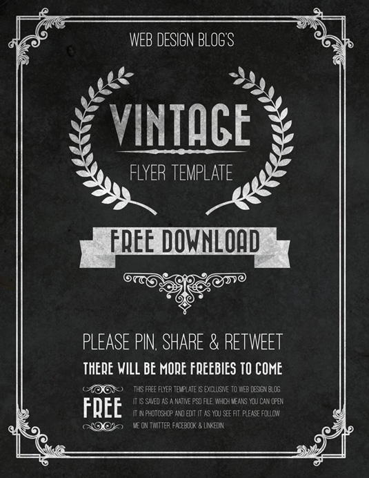 Doc590717 Retro Flyer Template 25 Retro Vintage PSD Flyer – Retro Flyer Templates