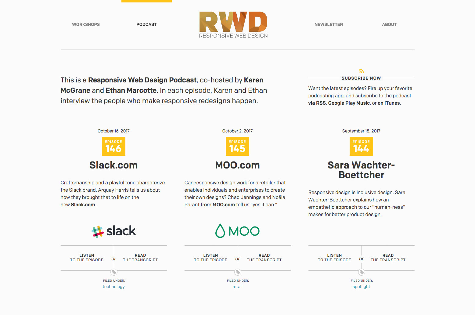 Web design podcasts: RWD