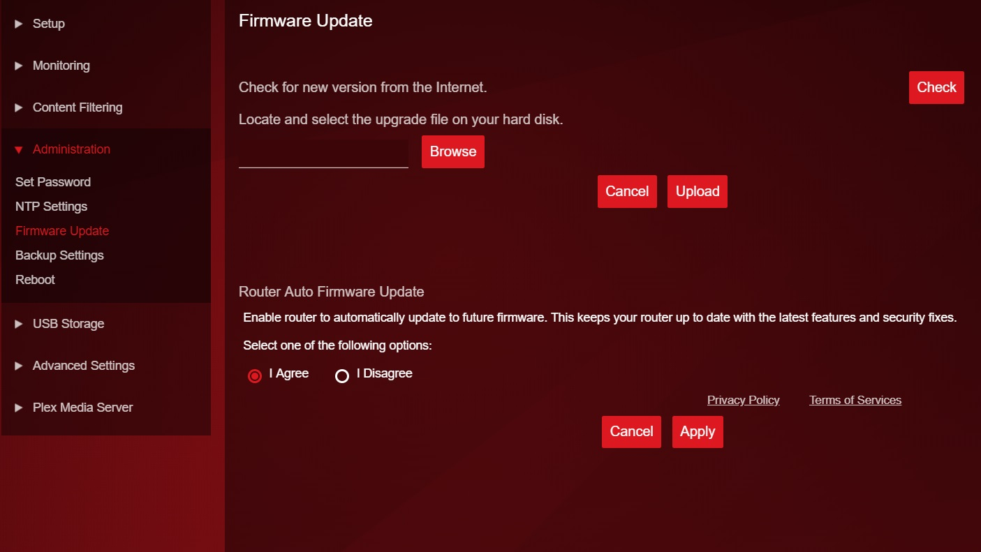 Router firmware
