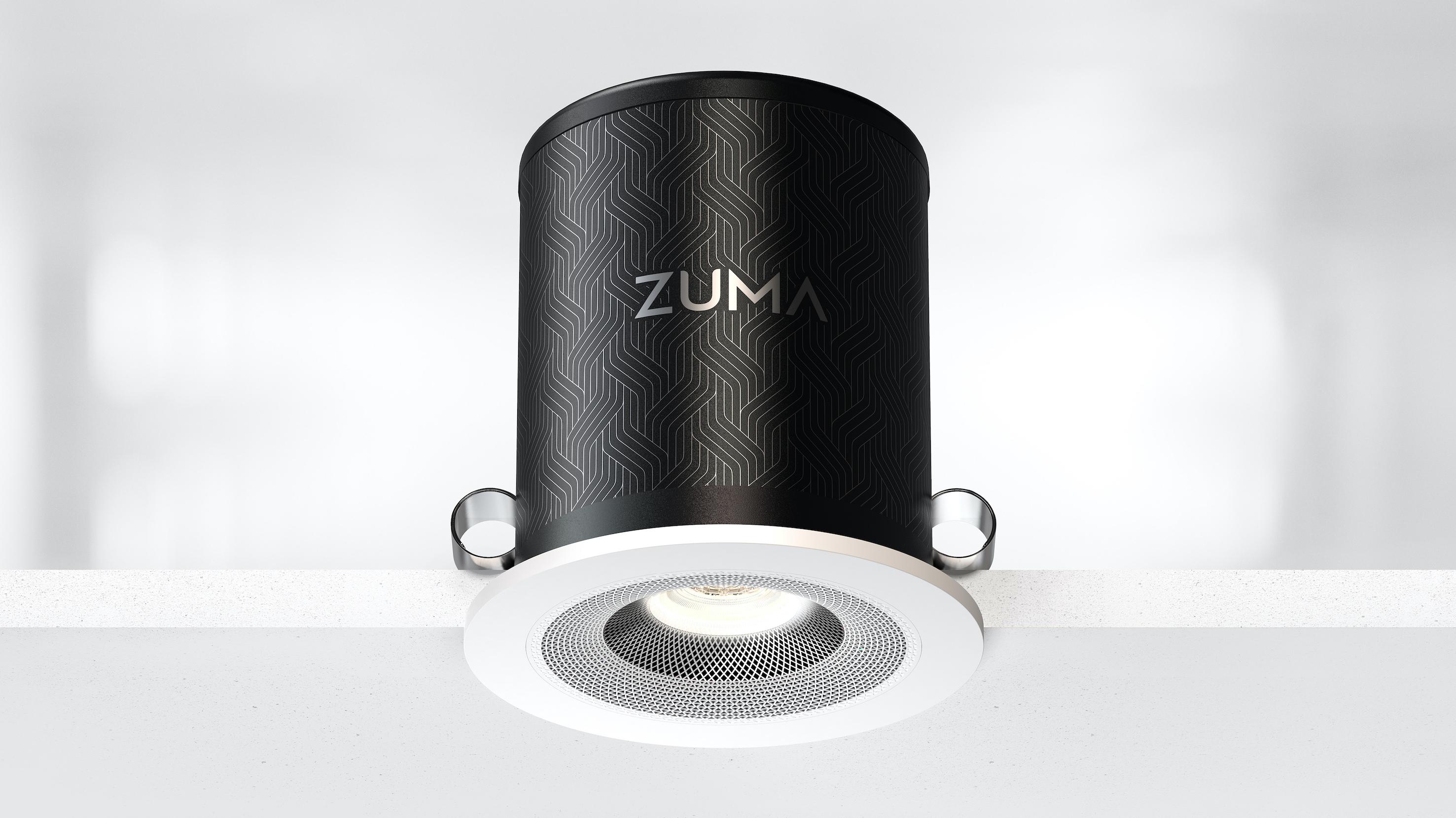 Zuma Lumisonic: an ultra-compact speaker light from the engineer of B&W's Nautilus