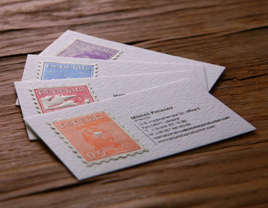 Letterpress business cards: Pepelatz