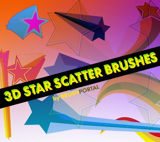 Best free Illustrator brushes - 3D star scatter