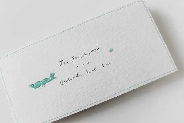 Letterpress wedding branding