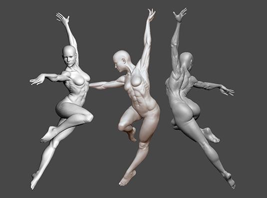 Realistic 3D figure